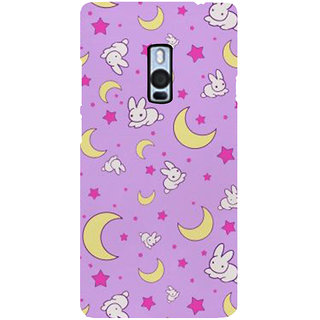 Ayaashii Rabbit Pattern Back Case Cover for One Plus Two::One Plus 2::One+2