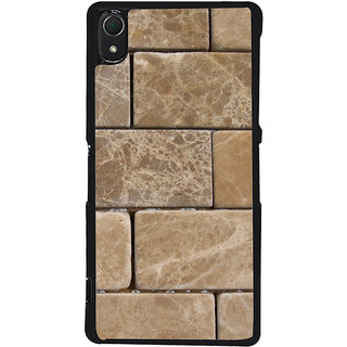 Ayaashii Marble Bricks Pattern Back Case Cover for Sony Xperia Z2::Sony Xperia Z2 L50W D6502 D6503