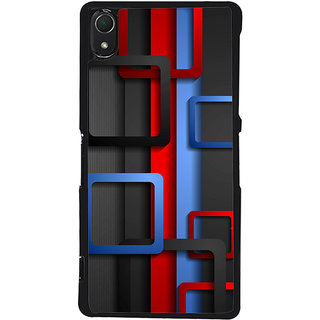 Ayaashii Square Abstract Back Case Cover for Sony Xperia Z2::Sony Xperia Z2 L50W D6502 D6503