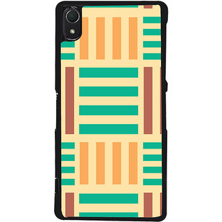 Ayaashii Horizontal Vertical Stripes Back Case Cover for Sony Xperia Z2::Sony Xperia Z2 L50W D6502 D6503