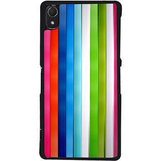 Ayaashii Color Stripes Back Case Cover for Sony Xperia Z3::Sony Xperia Z3 D6653 D6603
