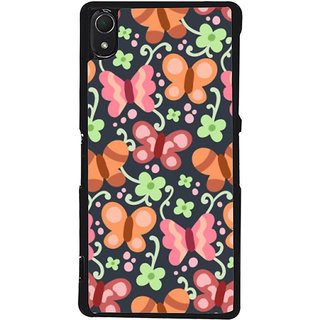 Ayaashii Butterfly Pattern Back Case Cover for Sony Xperia Z3::Sony Xperia Z3 D6653 D6603