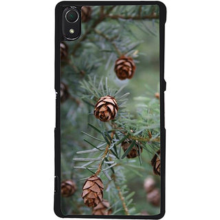 Ayaashii Pine Cone Tree Back Case Cover for Sony Xperia Z3::Sony Xperia Z3 D6653 D6603
