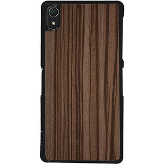 Ayaashii Wooden Finish Back Case Cover for Sony Xperia Z3::Sony Xperia Z3 D6653 D6603