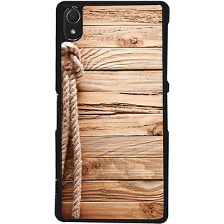 Ayaashii Rope On Wood Back Case Cover for Sony Xperia Z3::Sony Xperia Z3 D6653 D6603