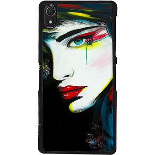 Ayaashii Crying Girl Painting Back Case Cover for Sony Xperia Z3::Sony Xperia Z3 D6653 D6603