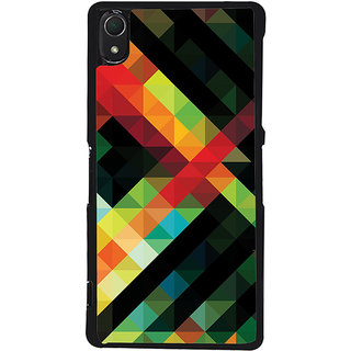 Ayaashii Diamond Abstract Back Case Cover for Sony Xperia Z3::Sony Xperia Z3 D6653 D6603