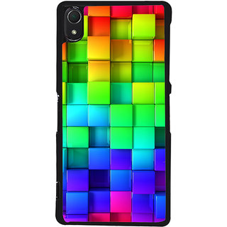 Ayaashii Square Abstract Back Case Cover for Sony Xperia Z3::Sony Xperia Z3 D6653 D6603