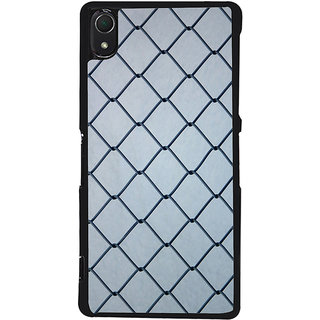 Ayaashii Iron Net Back Case Cover for Sony Xperia Z3::Sony Xperia Z3 D6653 D6603