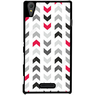 Ayaashii Arrow Pattern Back Case Cover for Sony Xperia T3