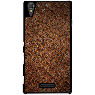 Ayaashii Brown Clored Pattern Back Case Cover for Sony Xperia T3