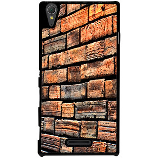 Ayaashii Bricks Pattern Back Case Cover for Sony Xperia T3