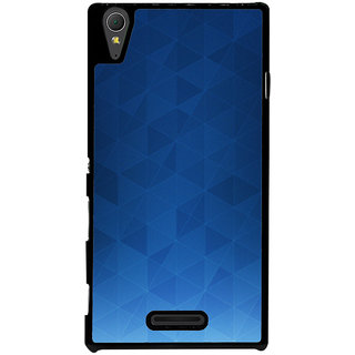 Ayaashii Blue Background Back Case Cover for Sony Xperia T3