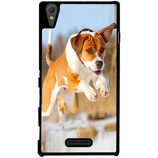 Ayaashii Dog Was Jumping Back Case Cover for Sony Xperia T3