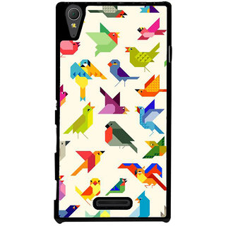 Ayaashii Birds Pattern Back Case Cover for Sony Xperia T3