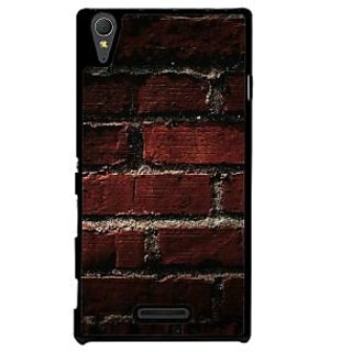 Ayaashii Brick Wall Back Case Cover for Sony Xperia T3