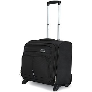 Novex Small (Below 60 cms) Black Polyester 4 Wheels Trolley