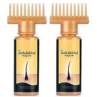 Indulekha Bringha Hair Oil Selfie Bottle, 100Ml (2 Pack)