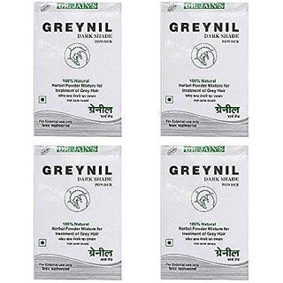 Dr. Jain'S Greynil Dark Shade Herbal Hair Colour Treatment - 100G (Set Of 4)