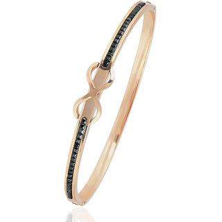 Spargz Love Knot Alloy Openable Bangles Bracelets for Girls  Women AISK 127