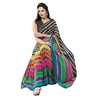 Pari Designerr Multicolor  Silk  Self Design Saree With Blouse