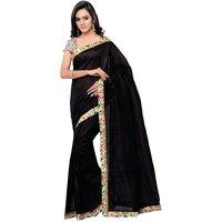Pari Designer Black Lace Work Georgette Saree