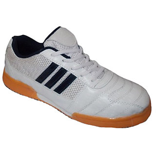 Port Mens Lethal-Pro White Mesh Badminton Shoes