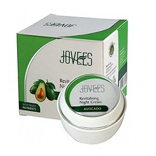 Jovees Avocado Revitalising Night Cream, 50G (Pack Of 2)