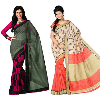 Pari Designer Multicolor Printed Silk Saree