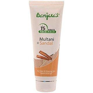Banjara'S 15 Minutes Face Pack, Multani And Sandal, 100G