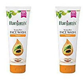Banjara'S Face Wash, Papaya, 100 Ml + 20 Ml Free