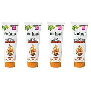 Banjara'S Tan Free Face Wash - Multani+Orange - 100Ml (Pack Of 4)