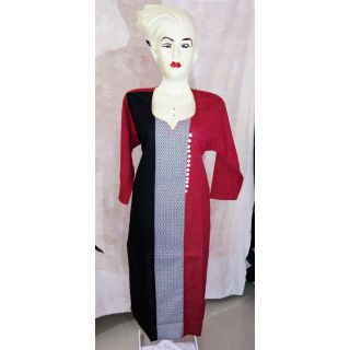 Red And Black cotton Kurti