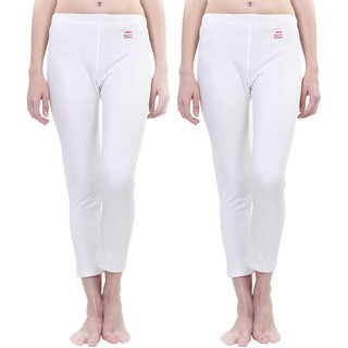 Vimal Winter Premium White Thermal Bottom For Women(Pack Of 2)