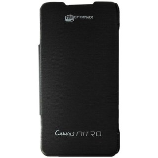 Micromax Flip Covers Case For Micromax Canvas Nitro A310 - Black