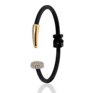 Spargz Black AD Stone Nail Cuff Bangles Bracelets for Girls  Women AISK 151