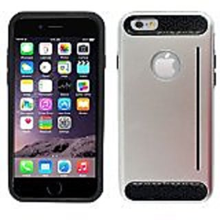 Zizo Durable TPU/PC Cover with Card Cutout for iPhone 6 - Retail Packaging - Metallic Silver