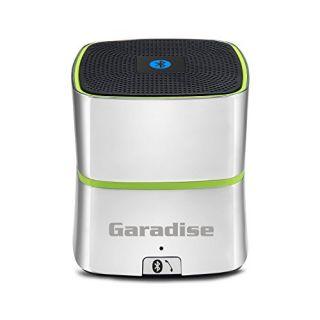 Garadise Curve Cube Wireless Bluetooth Speaker with 5W Drive & Super Deep Bass - Silver Chrome