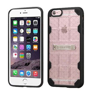 MyBat Cell Phone Case for Apple iPhone 6 Plus/6s Plus - Retail Packaging - Black/Transparent