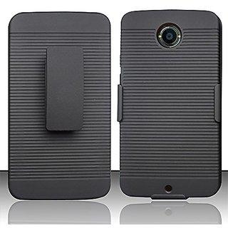 Zizo Rubberized Holster Combo Cover for Motorola Nexus 6 Google - Retail Packaging - Black