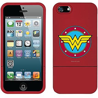 Coveroo Wallet Folio Cell Phone Case for iPhone 5/5s - Wonder Woman Emblem Circular