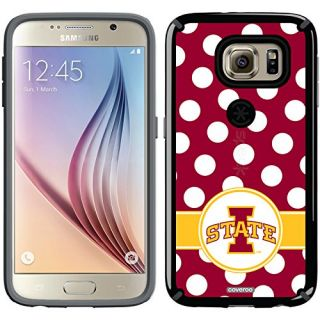 Coveroo CandyShell Cell Phone Case for Samsung Galaxy S6 - Retail Packaging - Iowa State Polka Dots