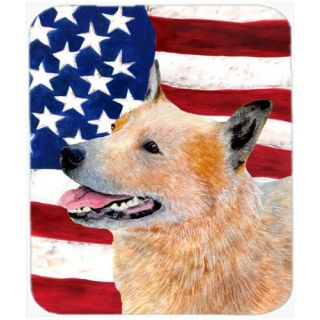 Carolines Treasures Mouse/Hot Pad/Trivet, USA American Flag with Australian Cattle Dog (SS4251MP)