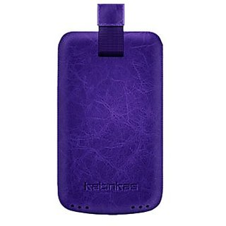 Katinkas USA 2108045661 Premium Leather Case for Samsung Star 2 S5260 Creased - 1 Pack - Retail Packaging - Purple