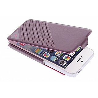 X-Doria 410199 Dash Flip Case for iPhone 5 - 1 Pack - Retail Packaging - Purple/Pink