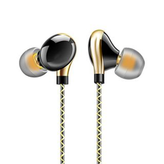 Dislot Sports Earhook Earphone Premium Earbuds with Microphone Stereo Noise Isolating Headphone Headset - Made for Iphon