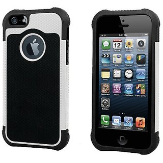 GabbaGoods GG-iRC-WHT Rough and Tough Protective Case for iPhone 5 - Retail Packaging - White