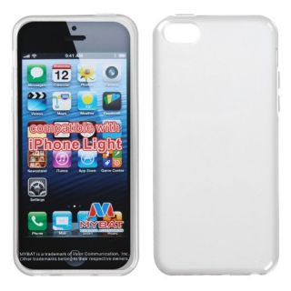 MyBat Semi Transparent Candy Skin Cover (Rubberized) for Apple iPhone 5C - Retail Packaging - White