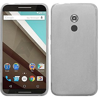 HR Wireless Google Nexus 6 Frosted TPU Cover - Retail Packaging - Clear