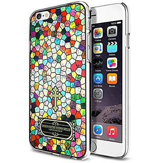 ParTicular(TM) Gothic Church Window Glass Classic iPhone Case for iPhone 6 4.7 (RainbowColor-Small Grilles)